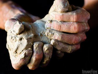 Unshaped Clay in Potter's Hands
